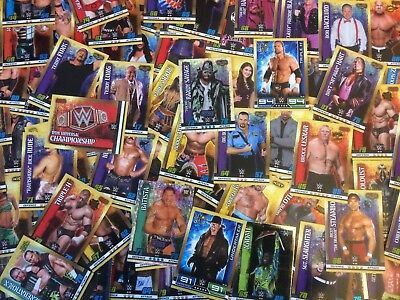 WWE TOPPS slam attax 10th edition bulk lot 291 cards plus 2 tins