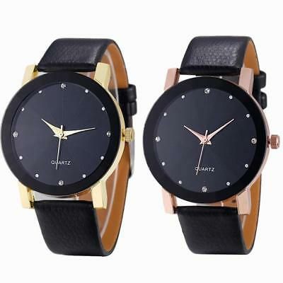 Luxury Fashion Mens Watch Quartz Sport Faux Leather Stainless Steel Watches Dial