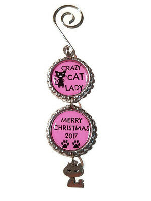 Crazy Cat Lady Charm Ornament, Cat Charm, Crazy Cat Lady, Gift for Cat Lover
