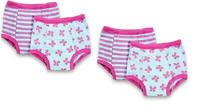 NEW 4 Pk Green Sprouts Girl's 2T 24M Washable Potty Training Pants Underwear