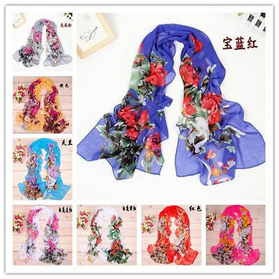 Fashion Stylish Women Long Soft Silk Chiffon Scarf Wrap Shawl Scarves