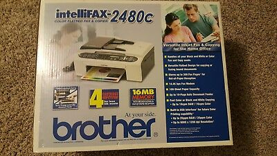 Brother IntelliFAX 2480c Color Flatbed Fax & Copier New in Original Sealing