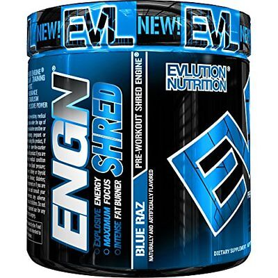 EVLUTION NUTRITION ENGN Shred Advanced Pre-Workout BLUE RAZZ  30 Servings