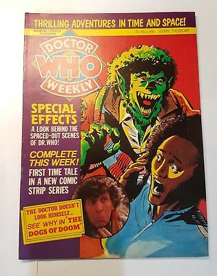 DOCTOR WHO Weekly MAGAZINE # 30  7th May 1980 Tom Baker Rare Collectable