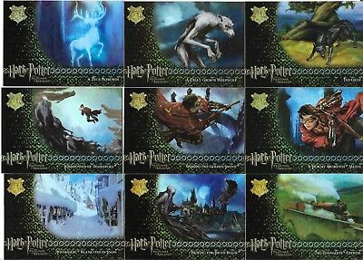 Harry Potter Prisoner Of Azkaban Update Complete 9 Card Foil Puzzle Chase Set