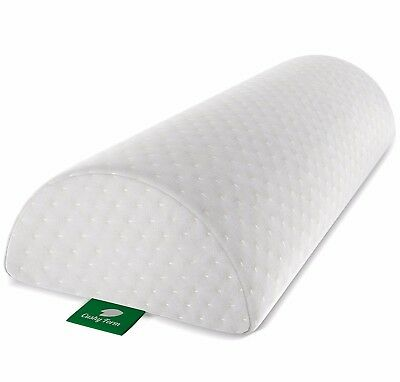 Back Pain Relief Half-Moon Bolster / Wedge by Cushy Form - SHIPS FREE