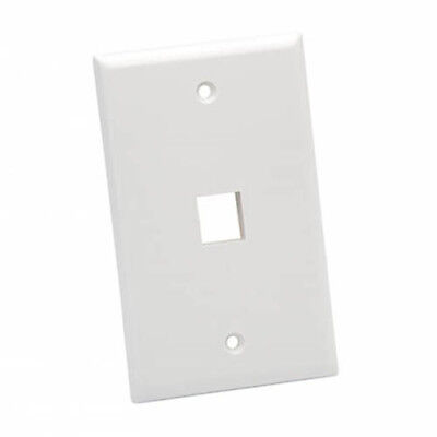 Platinum Tools 601WH25 Standard 1 Port Wall Plate, White, 25pc