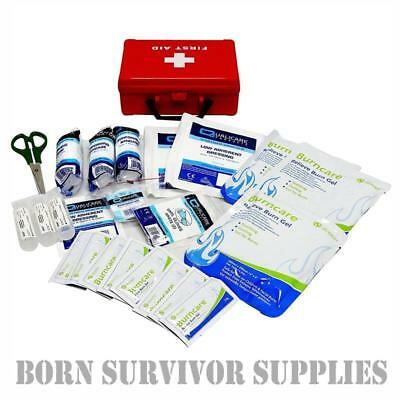 BURNS FIRST AID KIT QF1301 SMALL - Compact Burn Gel Dressings FAK Trauma Box