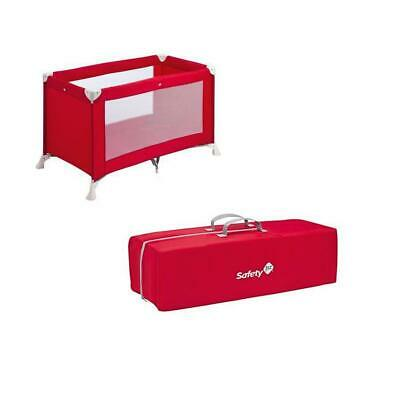 Babideal Cot Camping Box Foldable Red Grey Red Safety 1St