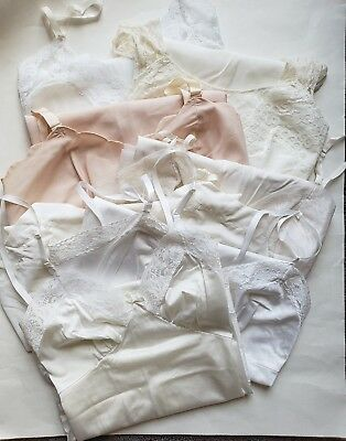 Lot of 7 Vintage Slips with Flaws - Stains Various Sizes Brands