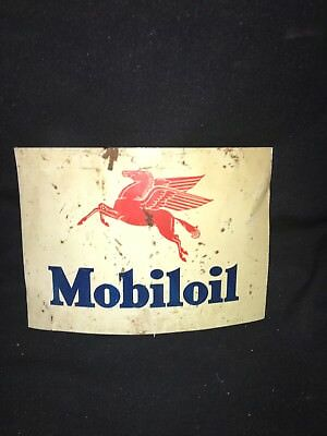 """1940's 9 1/2"""" Mobil Oil  Sign"""