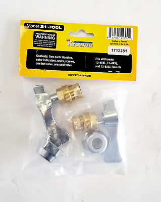 "Krowne 21-300L Repair Kit for Commercial Series 4"" Center Faucets - NEW STYLE"