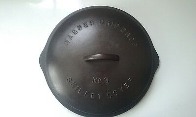 Vintage Large WAGNER DRIP DROP No. 9 Cast Iron Domed Skillet Cover Lid 1069 A