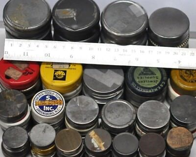 10 Empty Metal Tins Assorted Vintage Watch Movement Parts Steampunk Tins Altered