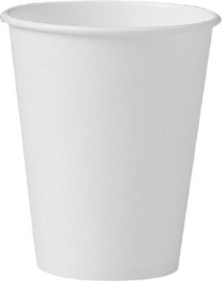 Solo Drinking Cup 8 oz. White Paper, case of 1000 #378W-2050 ''New''