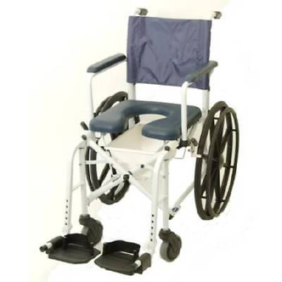 Commode/Shower Chair Mariner Drop Arm Aluminum Frame Padded Back 22.5in 1 Count
