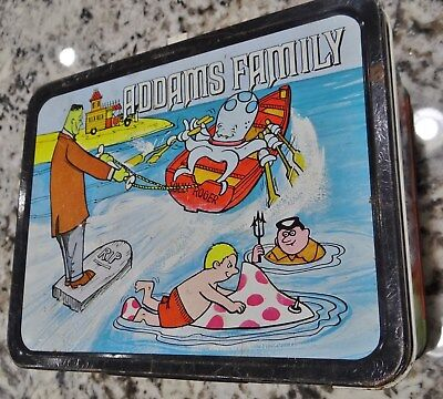 Adams Family 1974 Metal Lunchbox King-Seeley Thermos Co Vtg