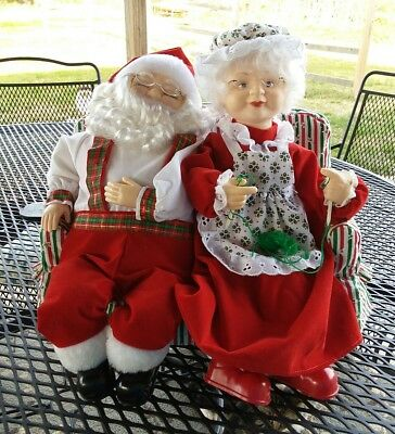 Mr Mrs Santa Claus Couch The Original Motionette Telco 15 Inch Musical