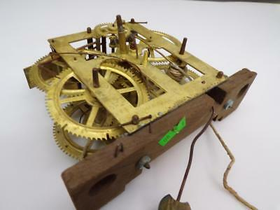 Early Vintage Unsigned OGee O Gee Weight Driven Brass Clock  Movement  D319c