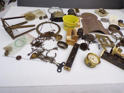 Huge Lot of Various Clockmaker Mantle Wall Clock Parts Craft Art SteamPunk  D506