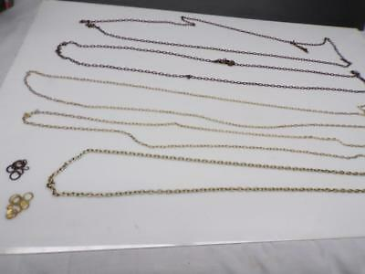 Lot of Various German Weight Driven Grandfather / Cuckoo Clock Chain D521e