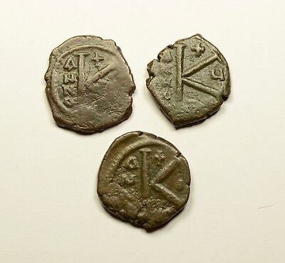 Authentic Ancient Medieval Byzantine Coin K - LOT OF 3