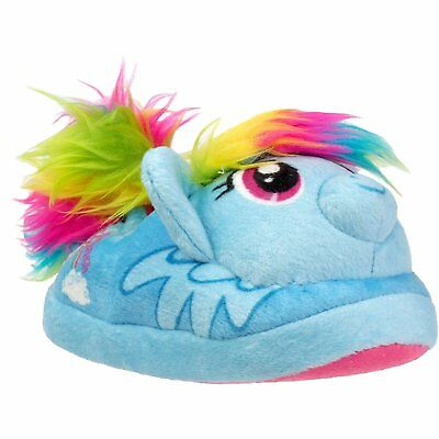 NEW NWT Girls My Little Pony MLP Slippers Rainbow Dash Baby Toddler Size 5/6