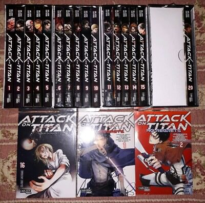 Attack on Titan Band 1-16, 19 & A Choice With   no Regrets