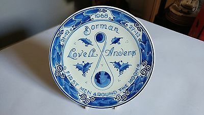 Royal Delft Handpainted First Men Around The Moon 1968 Plate GKO 11BG CN