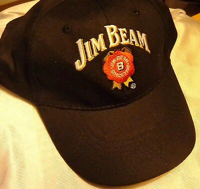 Jim Beam Baseball Style Golf Hat - Black - Traditional Logo - NEW