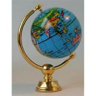 Brass World Globe, Dolls House Miniatures, Study Library, Miniature
