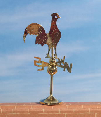 Cockerel Weather vane, Dolls House Miniature Roof Accessory
