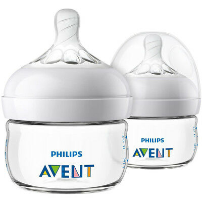PHILIPS Avent 2 Pack 2oz Natural Baby Bottle Clear - SCF019/25
