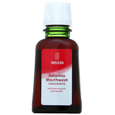 NEW Weleda Dental Care Ratanhia Mouthwash 50ml