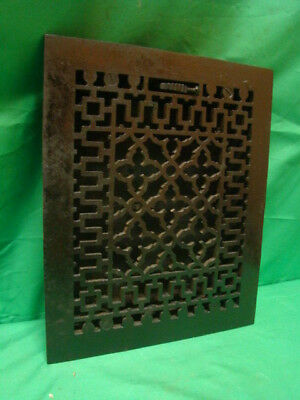 Antique Black Cast Iron Heating Grate Unique Ornate Design 11.75 X 9.75 G