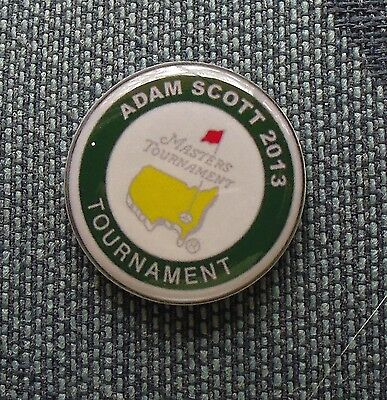 1 only ADAM SCOTT TRIBUTE 2013 US MASTERS GOLF BALL MARKER won by ADAM SCOTT