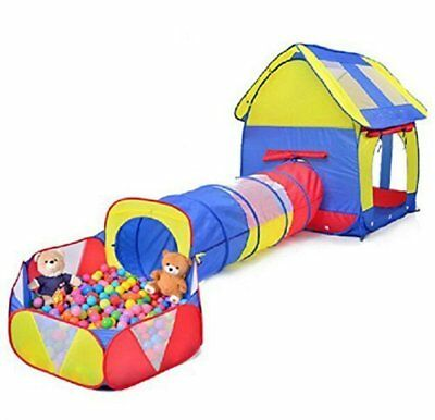 Kids Play Tent Tunnel Ball pit 3 Pieces Set Indoor Outdoor (Ball Is Not Include)