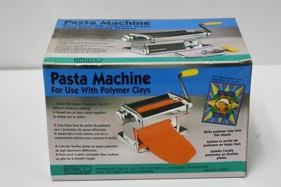 AMACO Pasta Machine For Use with Polymer Clays & Soft Metal Sheets New