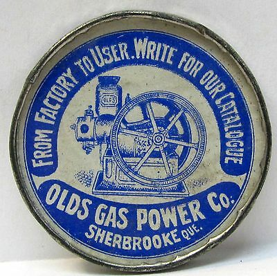 1890's OLDS GAS POWER CO. engine SHERBROOKE Quebec Canada pocket mirror *