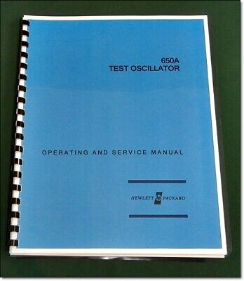 """HP 650A Operating & Service Manual: w/11""""X17"""" Foldouts & Protective Covers"""