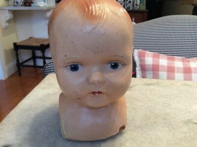 Antique Vintage Baby Childs Mannequin Bust