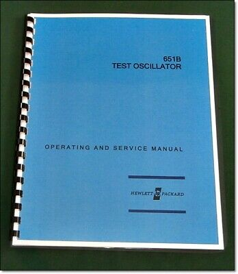 """HP 651B Operating & Service Manual: w/11""""X17"""" Foldouts & Protective Covers"""
