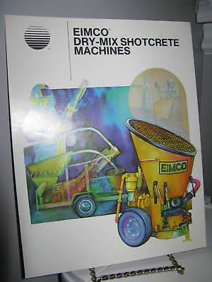 Eimco Dry-Mix Shotcrete Machines Mining - 4 Page Sales Ad Brochure - VG