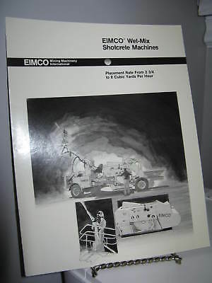 Eimco Wet-Mix Shotcrete Machines Mining - 8 Page Sales Ad Brochure - VG