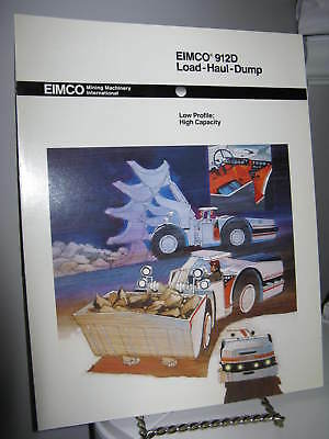 Eimco 912D Load-Haul-Dump Mining - 4 Page Sales Ad Brochure - VG