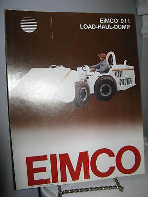 Eimco 911 Load-Haul-Dump Mining - 4 Page Sales Ad Brochure - VG