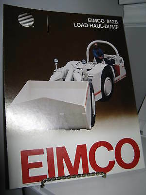 Eimco 912B Load-Haul-Dump Mining - 4 Page Sales Ad Brochure - VG