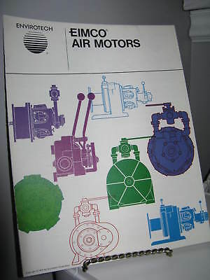 Eimco Air Motors  - 12 Page Sales Ad Fold-Out Brochure - VG - Mining