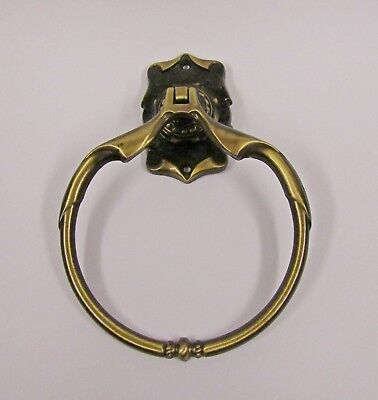 * Vintage Amerock Carriage House Antique Brass Finish Towel Ring *