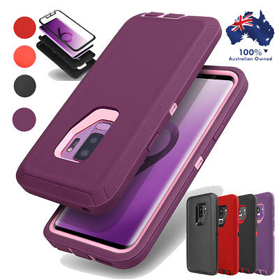 Samsung Galaxy S9+ S8 Note 8 S7 Hybrid Rugged Shockproof Rubber Hard Case Cover